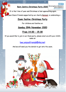 Burn  Centre Christmas Party 2020
